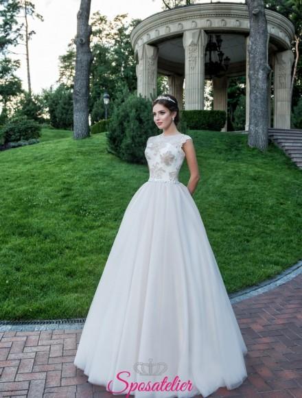 abito da sposa con inserti colorati vendita online economico