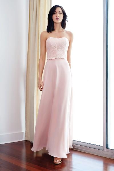 Cindy abito da cerimonia lungo colore rosa