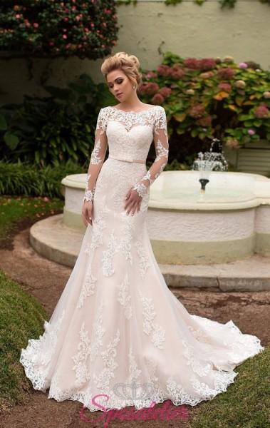 abiti da sposa on line color avorio ricamato nuovo modello collezione 2018