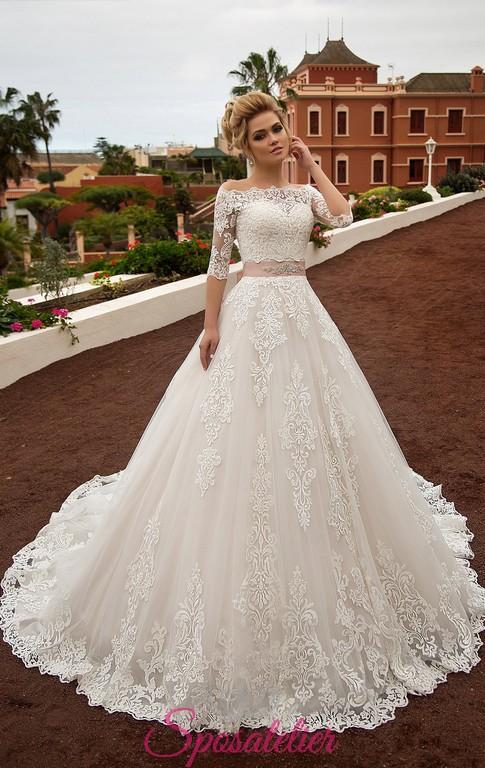 Vestiti Da Sposa Modelli.Abiti Da Sposa Modello Principessa On Line Economici Con Cintura
