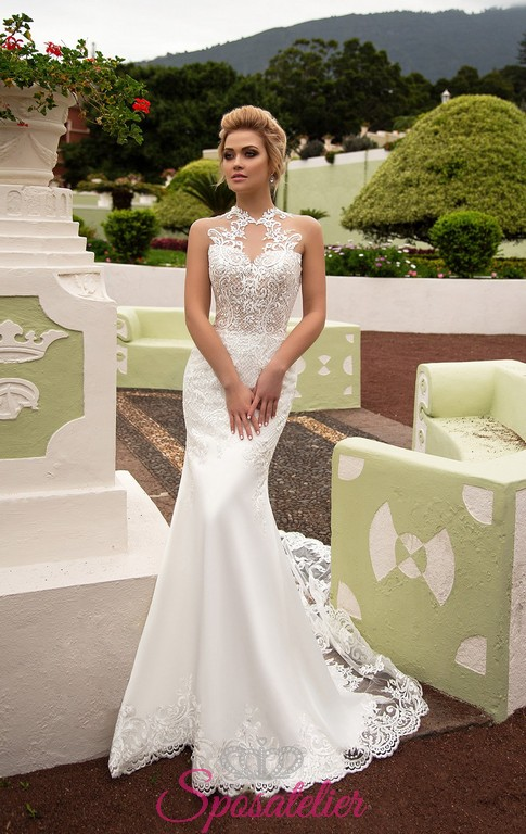 abiti da sposa a sirena particolari vendita online collezione 2018