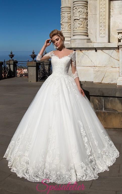 abiti da sposa modello principessa stile 800 on line economici italiani
