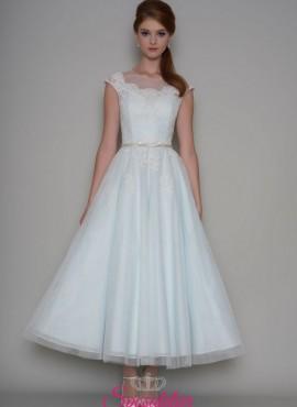abiti da sposa per matrimonio civile gonna longuette
