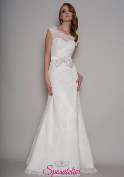 abiti da sposa  semplice in stile vintage online economici