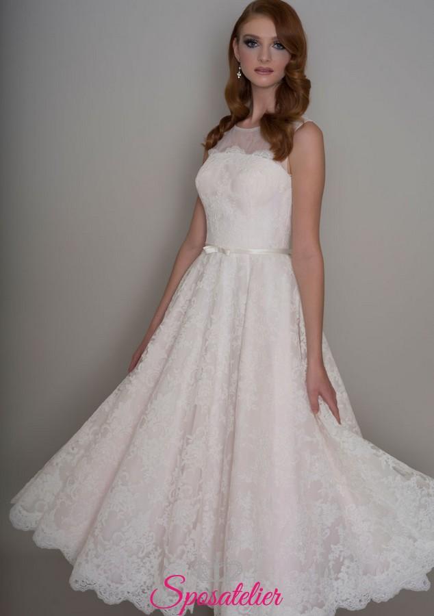 new product b43b0 e5cfd abiti da sposa longuette per matrimonio civile