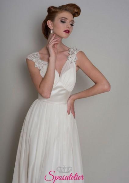 abiti da sposa lungo vintage elegante online economici