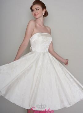 abiti da sposa corto in stile anni 50 vintage