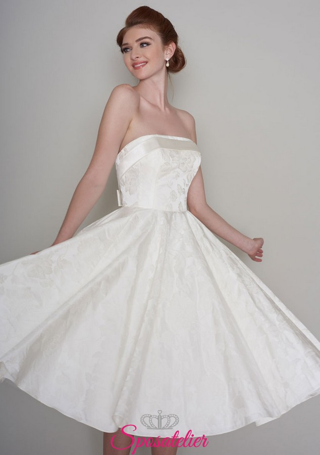 Vestiti Da Sposa Anni 50 60.Abiti Da Sposa Corto In Stile Anni 50 Vintagesposatelier