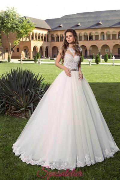 abito per sposa con gonna di tulle 2018 da principessa on line
