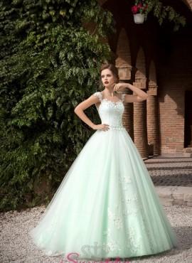 abito da sposa verde vendita online su misura collezione 2018