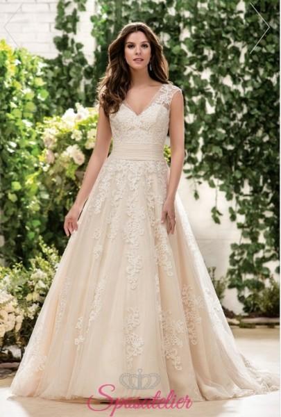 abiti da sposa colorato in stile vintage nuova collezione 2018