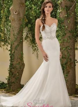 abiti da sposa 2018 a sirena elegante con punti luce