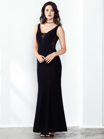 Octavia abito da sera in pizzo nero