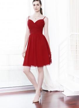 Morgana abito corto cerimonia rosso