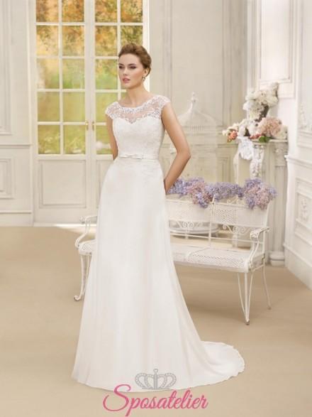 abito da sposa elegante e raffinato per spose 2018 on line