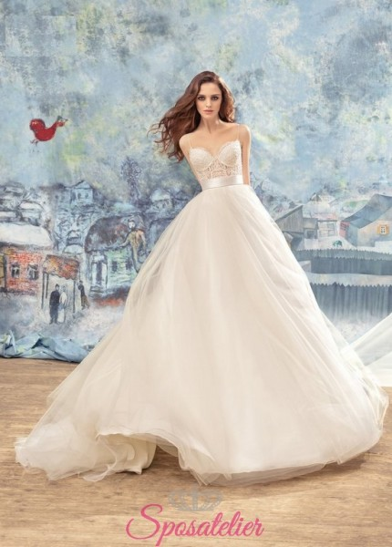 abiti da sposa matrimonio in autunno o primavera su misura