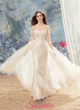 abiti da sposa particolare di tendenza con cinturino staccabile  su misura