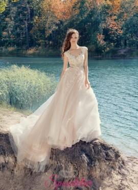 abiti da sposa doppio colore rosa sfumato su misura sartoria online