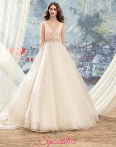 abiti da sposa particolari bicolore su misura sartoria online