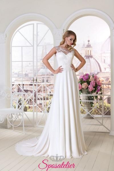 abito da sposa in stile impero 2018 collezione online prezzi economici