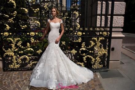 vestito da sposa a sirena particolare sensuale nuova collezione 2018