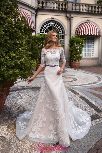 abito da sposa con scollo a barca tendenza 2018  in vendita online