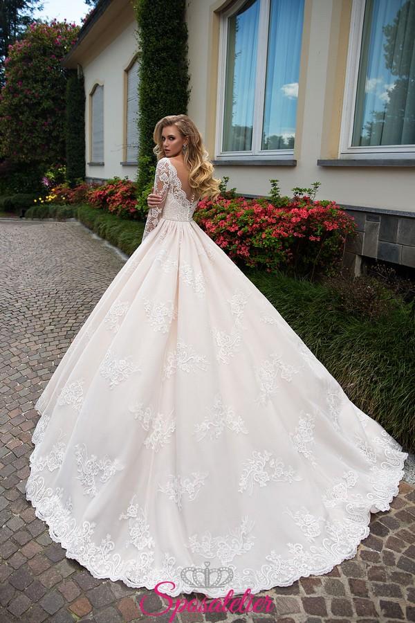 presa di fabbrica più economico data di uscita abiti da sposa romantici da principessa colorato 2018Sposatelier