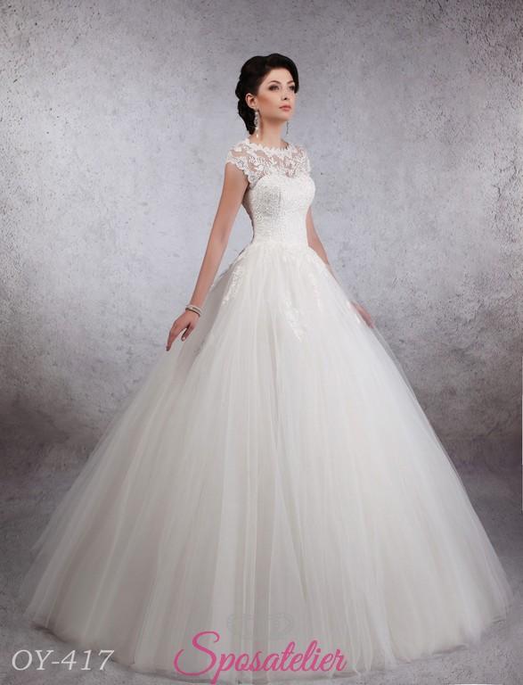 2066e2a6101b abito da sposa con mezze maniche ricamate di pizzo modelli 2018