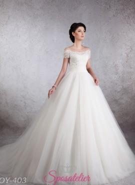 abiti da sposa a nuvola da principessa in tulle modelli 2018