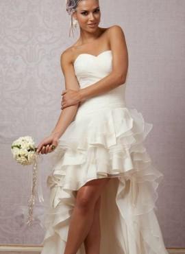 abiti da sposa corti con gonna asimmetrica online economico 2018