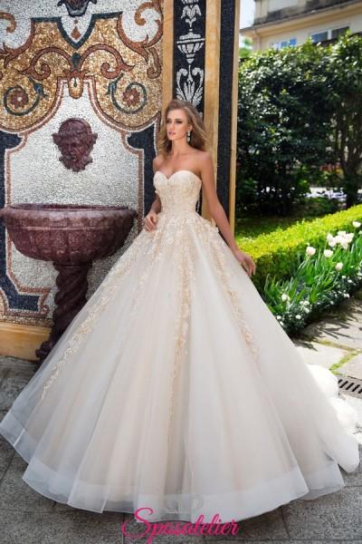 abiti da sposa in offerta con gonna ampia da principessa