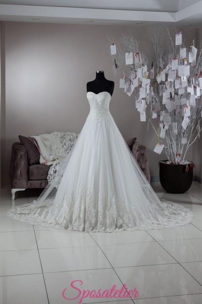 abito da sposa su internet sartoria italiana collezione 2018