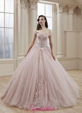 abiti da sposa rosa tenue colori delicati su misura sartoria online