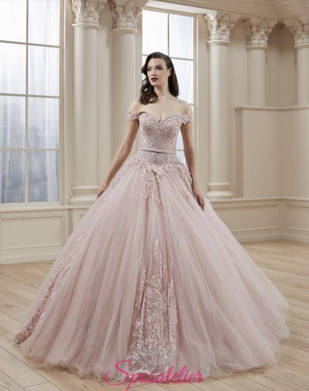 eae1bceb1fa5 abiti da sposa rosa tenue colori delicati su misura sartoria online