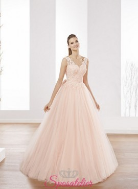 abiti da sposa rosa delicato romantico realizzati su misura