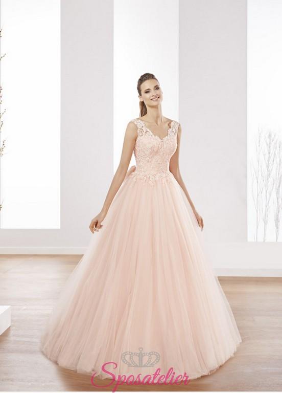 cheap for discount 0f3d1 7716a abiti da sposa rosa delicato romantico realizzati su misura
