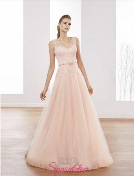 abito da sposa colori tenui  e romantici di tendenza 2018