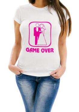 maglietta addio al nubilato matrimonio game over