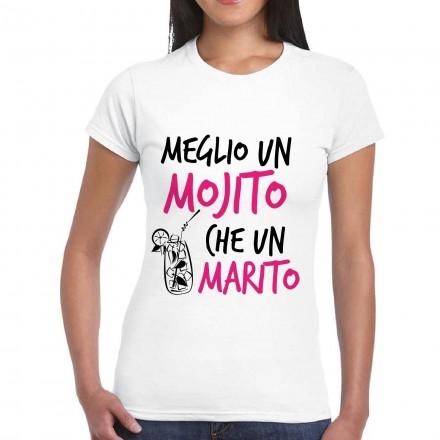 maglietta stampata meglio un mojito che un marito
