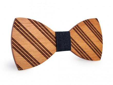 papillon di legno a righe
