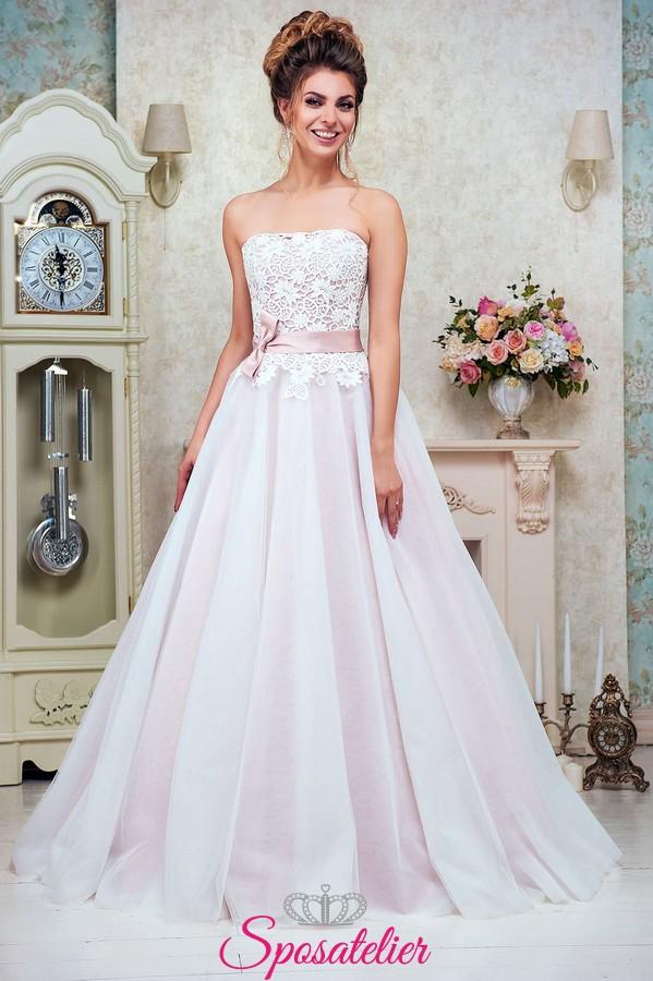 24972779605a abito da sposa romantico con cintura rosa collezione 2018Sposatelier