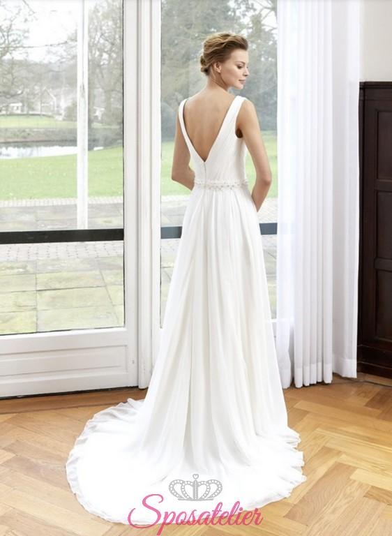 82ffdbb25a4f abito da sposa stile impero con spacco leggero collezione 2018