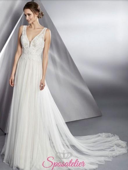 abito da sposa stile impero greco collezione 2018