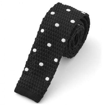 cravatta a pois tessuto maglia