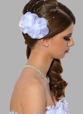 feramaglio acconciatura sposa online ricamato a mano con perle swarovski