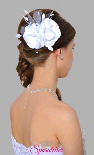 fermagli per capelli sposa on line ricamato a mano con perle swarovski