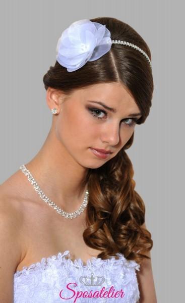 fascia per capelli sposa online collezione 2018