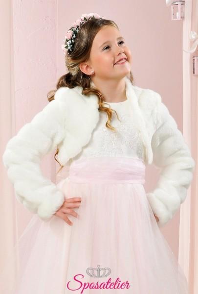 pelliccia coprispalle bambina prima comunione elegante economico online