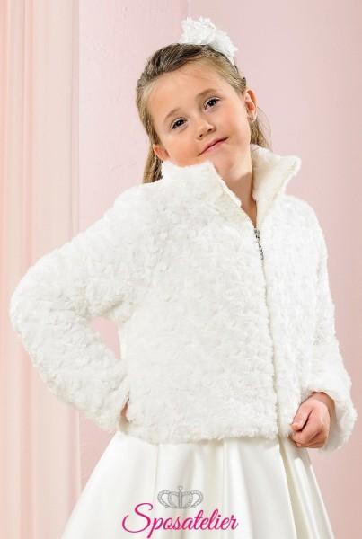 giubbino elegante da comunione per bambina economico online