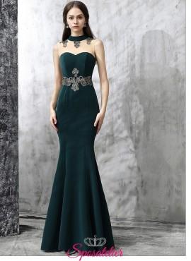 abito da cerimonia 2018 economici vendita online verde elegante